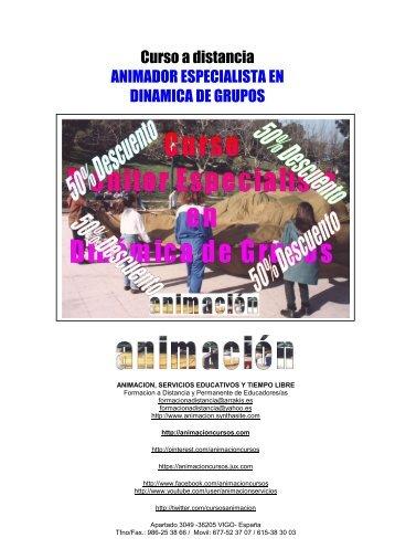 Curso a distancia ANIMADOR ESPECIALISTA EN DINAMICA DE GRUPOS