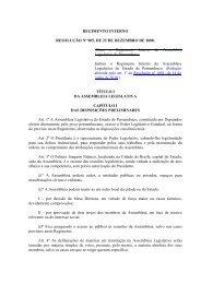 Regimento Interno - Assembleia Legislativa do Estado de ...