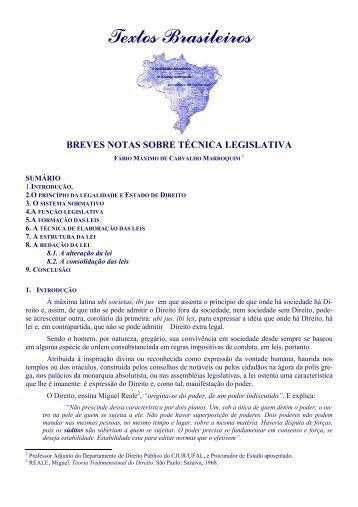 TÉCNICA LEGISLATIVA – a arte de fazer leis - brasil brasileiro