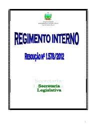 Regimento Interno - Assembléia Legislativa
