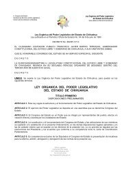 ley organica del poder legislativo del estado de chihuahua