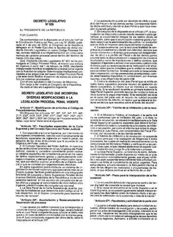 Decreto Legislativo Nº 959, que incorpora diversas ... - Justicia Viva