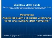 Ministero della Salute Mixomatosi Aspetti legislativi e di polizia ...