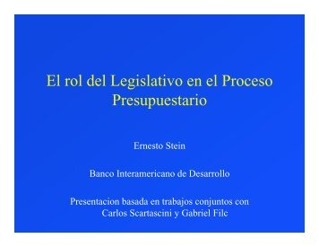 El rol del Legislativo en el Proceso Presupuestario