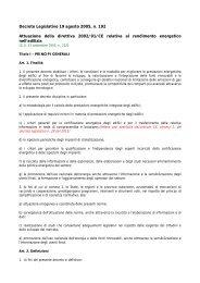 Decreto Legislativo 19 agosto 2005 n.192 - Provincia di Udine