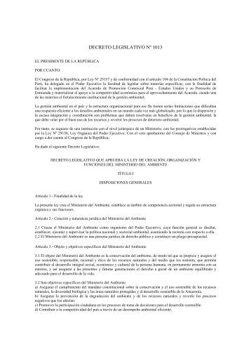 decreto legislativo nº 1013 - Organismo Supervisor de la Inversión ...