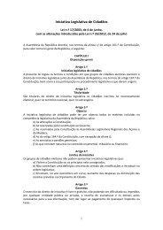 Iniciativa Legislativa de Cidadãos - Assembleia da República