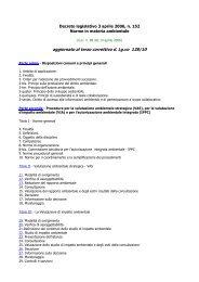 Decreto legislativo 152_06 aggiornato 2010 - Provincia di Milano