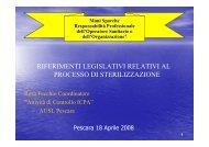 Riferimenti legislativi relativi al processo di sterilizzazione