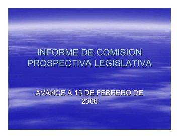 Comisión de prospectiva legislativa - Universidad Tecnológica de ...