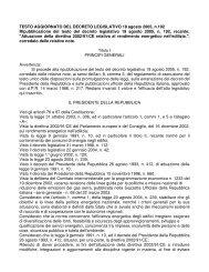 TESTO AGGIORNATO DEL DECRETO LEGISLATIVO 19 agosto ...