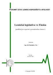 Lesnická legislativa ve Finsku - Výzkumný ústav lesního ...