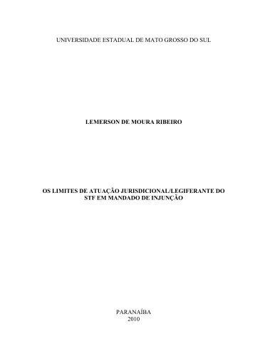 monografia finalizada lemerson - Universidade Estadual de Mato ...