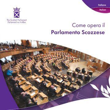 Come opera il Parlamento Scozzese - Scottish Parliament