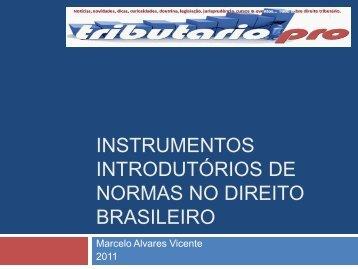 Instrumentos primários - Tributario.pro