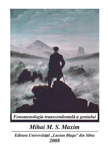 Fenomenologia transcendentală a geniului - Revista Castalia