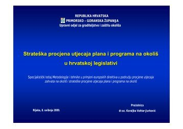 Strateška procjena utjecaja plana i programa na okoliš - zavod pgz ...