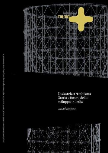 Industria e Ambiente Storia e futuro dello sviluppo in ... - ARPA Umbria