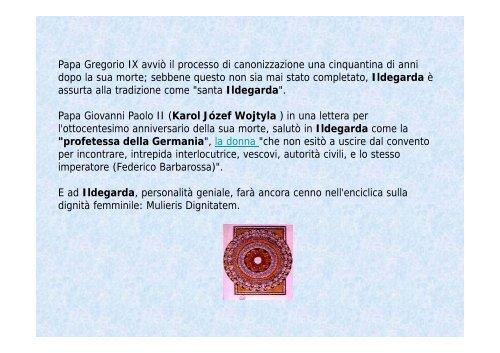 Santa Ildegarda - COMUNICAZIONE CRISTALLINA