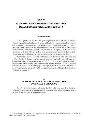 cap. v il biraghi e la rigenerazione cristiana della ... - Suore Marcelline