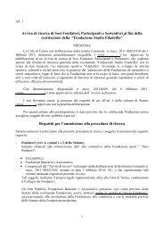 Avviso di ricerca di Soci Fondatori, Partecipanti e ... - Città di Torino