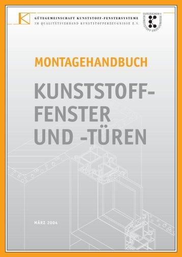 MONTAGEHANDBUCH KUNSTSTOFF- FENSTER und - fvab.se