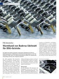FSG Automotive Warmband von Buderus Edelstahl für DSG-Getriebe