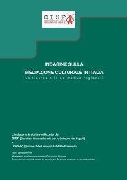 indagine sulla mediazione culturale in italia - Integrazione Migranti