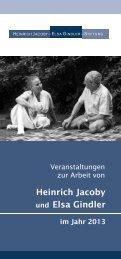 Veranstaltungsplan 2013 - Heinrich Jacoby - Elsa Gindler - Stiftung