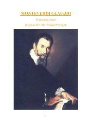 361 - Monteverdi Claudio - Magia dell'Opera