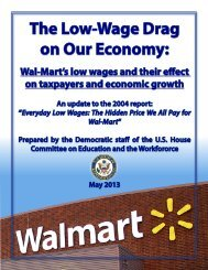 The Low-Wage Drag on Our Economy: