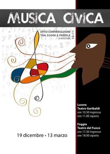 19 dicembre • 13 marzo - Musica Civica