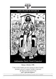 Sollemnitas Patris Nostri Francisci ORDO FRATRUM ... - OFM