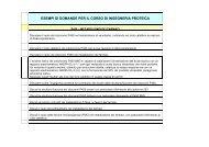 esempi di domande per il corso di ingegneria proteica - Classe delle ...