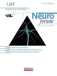 Neuroforum 3/03 - Neurowissenschaftliche Gesellschaft eV