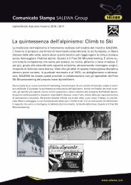 Climb to Ski Comunicato Stampa SALEWA Group