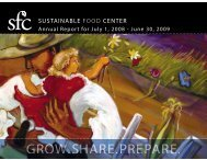 Annual Report - Sustainable Food Center