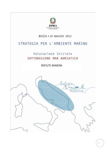 6.1 Mar Adriatico - La strategia marina - Ispra
