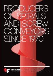 Siamo produttori di spirali e coclee dal 1970. We are ... - Tecnofer Srl