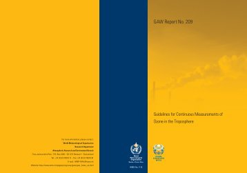 209. Guidelines for Continuous Measurements of Ozone in ... - WMO