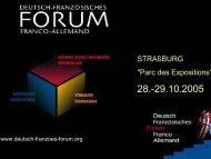 Beschreibung des Deutsch-Französischen Forums