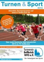 Titelthema des Vereinsmagazins TuS - TV Dellbrück eV