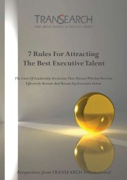 7 Rules For Attracting The Best Executive Talent - TRANSEARCH ...