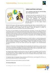 Liebe Leserinnen und Leser, - Fairtrade
