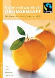 Unterrichtseinheit Orangensaft - Fairtrade