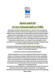 fairer Puma-Ball Bayern spielt fair - Behoerden Schulen ... - Fairtrade