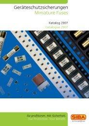 Geräteschutzsicherungen Miniature Fuses - AlHof