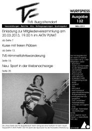 WURFSPIESS Ausgabe 132 - TVE Burgaltendorf