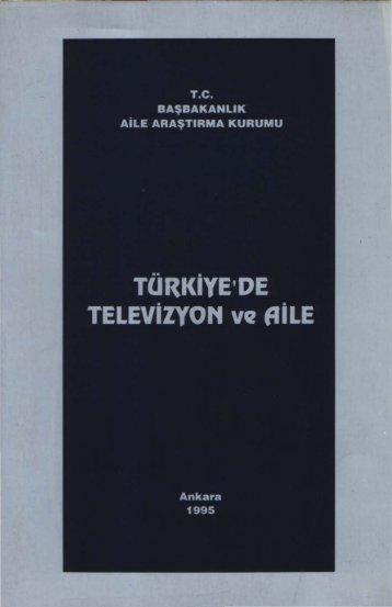 19- Türkiye'de televizyon ve aile - Aile ve Toplum Hizmetleri Genel ...