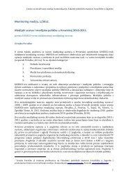Medijski sustav i medijska politika u Hrvatskoj 2010-2011